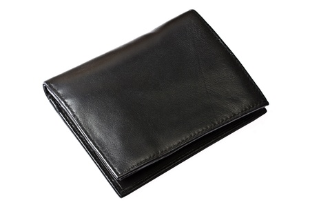 8564771 - a black wallet isolated on white background