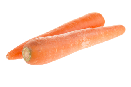 70183325 - array of pair long fresh carrot isolated on white background